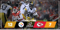 Memes, Chiefs, and Steelers: Steelers  HALFTIME  DIVISIONAL HALFTIME: @steelers 12 @Chiefs 7 PITvsKC NFLPlayoffs
