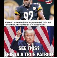 "America, Memes, and Savage: Steelers' James Harrison- ""Anyone On My Team Sits  For Anthem, They Better Be In A Wheelchair""  SEE THIS?  HIS IS A TRUE PATRIO James Harrison is my guy🇺🇸🇺🇸 liberal maga conservative constitution like follow presidenttrump resist stupidliberals merica america stupiddemocrats donaldtrump trump2016 patriot trump yeeyee presidentdonaldtrump draintheswamp makeamericagreatagain trumptrain triggered Partners --------------------- @too_savage_for_democrats🐍 @raised_right_🐘 @conservativemovement🎯 @millennial_republicans🇺🇸 @conservative.nation1776😎 @floridaconservatives🌴"