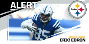 Steelers signing TE Eric Ebron to a two-year deal worth $12M. (via @rapsheet) https://t.co/ldo75bx77U: Steelers signing TE Eric Ebron to a two-year deal worth $12M. (via @rapsheet) https://t.co/ldo75bx77U