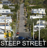 Memes, New Zealand, and 🤖: STEEP STREET 3 JAN: Baldwin Street in the city of Dunedin on New Zealand's South Island is officially the world's steepest residential road. What's it like to live on the street? Find out more: bbc.in-steepstreet NewZealand Dunedin Steepeststreet SouthIsland BBCNews BBCShorts @BBCNews