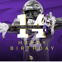 Birthday, Memes, and Happy: STEFON DIG GS  H A P P Y  B I R T H D A Y Help us wish a Happy 24th Birthday to @Vikings WR, @stefondiggs! 🎉🎉🎉 https://t.co/EDToRp2ps5