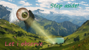 Step, Gods, and Observer: Step aside!  Let iobseave the observer of the gods