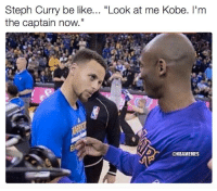"""Nba, Nationals, and  Captain: Steph Curry be like  """"Look at me Kobe. I'm  the captain now.""""  @NBAMEMES Steph Curry is taking over! #Warriors Nation"""