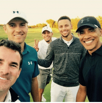 Memes, 🤖, and Golfing: StephCurry goes golfing with BarackObama