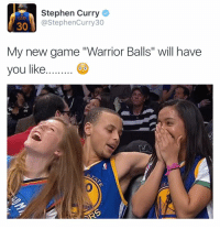 "Have you downloaded Stephen curry new game ""warrior balls"" 😂😭😂😭 @warriorballs @warriorballs @warriorballs: Stephen Curry  @StephenCurry30  30  My new game ""Warrior Balls"" will have  you like. Have you downloaded Stephen curry new game ""warrior balls"" 😂😭😂😭 @warriorballs @warriorballs @warriorballs"
