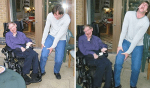 Funny, Jim Carrey, and Stephen: Stephen Hawking runs over Jim Carreys foot with his wheelchair via /r/funny https://ift.tt/2v7rdX5
