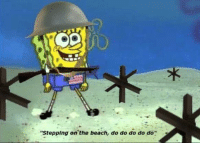 "Tumblr, Beach, and Blog: ""Stepping on the beach, do do do do do"" fakehistory:  Brave U.S. soldier storms the beaches of Normandy on D-Day (Circa 1944)"