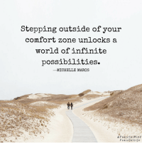 3 Ways to get comfortable with being uncomfortable: http://bit.ly/2vMWVHQ ❤️ Michelle Maros: Stepping outside of your  comfort zone unlocks a  world of infinite  possibilities.  ーMICHELLE MAROS  e PeacefulMind  PeacefuLife 3 Ways to get comfortable with being uncomfortable: http://bit.ly/2vMWVHQ ❤️ Michelle Maros