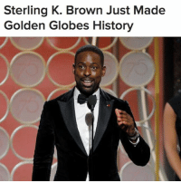 "FIRST BLACK MALE TO WIN BEST LEAD ACTOR IN A TV DRAMA 🙌🏾🙌🏿🙌🏼🙌🏽 Sterling K. Brown made GoldenGlobes history as the first black male to win Best Lead Actor in a TV Drama 👏🏾 ""I'm being seen for who I am and appreciated for who I am,"" he said about his ""This Is Us"" role (📷 Getty Images) Repost @buzzfeednews: Sterling K. Brown Just Made  Golden Globes History FIRST BLACK MALE TO WIN BEST LEAD ACTOR IN A TV DRAMA 🙌🏾🙌🏿🙌🏼🙌🏽 Sterling K. Brown made GoldenGlobes history as the first black male to win Best Lead Actor in a TV Drama 👏🏾 ""I'm being seen for who I am and appreciated for who I am,"" he said about his ""This Is Us"" role (📷 Getty Images) Repost @buzzfeednews"