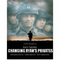 """""""Captain Miller and his special unit desperately search Normandy to give Private Ryan an emergency sex change operation in the field."""" Can't wait to see this. 😍😍 lovetrumpshate❤️💛💜💙💚: STEVEN SPIELBERG  tom hanks  CHANGING RYAN'S PRIVATES  edward bums matt damon tom sizemore """"Captain Miller and his special unit desperately search Normandy to give Private Ryan an emergency sex change operation in the field."""" Can't wait to see this. 😍😍 lovetrumpshate❤️💛💜💙💚"""