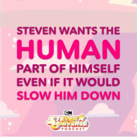 "Apple, Memes, and Link: STEVEN WANTS THE  HUMAN  PART OF HIMSELF  EVEN IF IT WOULD  SLOW HIM DOWN  IVERSE  PODCAST ""Steven wants the human part of himself"" @rebeccasugar explains the scene from ChangeYourMind in the latest SUpodcast...now on Apple Podcasts! (link in bio) stevenuniverse su battleofheartandmind"