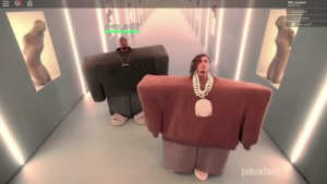 Kanye, Roblox, and Stick: [stick Lil Pump and Kanye on Roblox