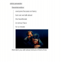 The marauders make me sad & I will defend James Potter until my dying day.: stielscamander  thewinterwidow  everyone focuses on harry  but can we talk about  the heartbreak  in remus' face  for a minute  how dare you talk about remus in front of me The marauders make me sad & I will defend James Potter until my dying day.