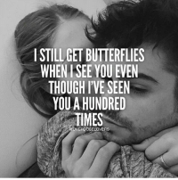 Memes, Butterfly, and 🤖: STILL GET BUTTERFLIES  WHEN SEE YOU EVEN  THOUGH I'VE SEEN  YOU A HUNDRED  TIMES  OVERDOSELOVERS Picture @yourmedusa and @boseydon Quote via @overdoselovers