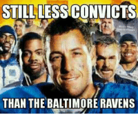 Baltimore Ravens, Nfl, and Baltimore: STILL LESS CONVICTS  THAN THE BALTIMORE RAVENS