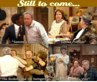 "Don't miss these iconic episodes still to come during today's ""Stuffle Yourself!"" The All In The Family Thanksgiving Day Marathon on Antenna TV!  What is your favorite All in the Family episode?: Still to come.  ""Sammy's Visit  Edit  Problem  !Cousin Mandels Visit  The Bunkers and the Swinger  (C Don't miss these iconic episodes still to come during today's ""Stuffle Yourself!"" The All In The Family Thanksgiving Day Marathon on Antenna TV!  What is your favorite All in the Family episode?"