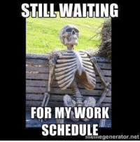 It's Sunday and Monday starts a new week. The schedule is still not up.... ~Mary: STILL WAITING  FOR MY-WORK  SCHEDULE erator net  meinegenerator.net  ((I ( It's Sunday and Monday starts a new week. The schedule is still not up.... ~Mary