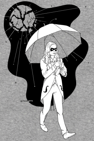 stitchyarts:  drew up a little vanya hargreeves specifically to look neat on a heathered tee, because i craaave (on redbubble): STITCHYARTS stitchyarts:  drew up a little vanya hargreeves specifically to look neat on a heathered tee, because i craaave (on redbubble)