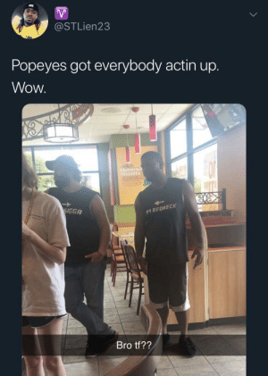 blacktwittercomedy:  Black Twitter: @STLien23  Popeyes got everybody actin up.  Wow  Buttermi  81SCUITS  VGGA  WY REDNECK  Bro tf?? blacktwittercomedy:  Black Twitter