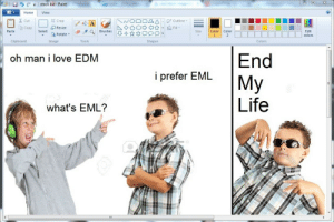 Life, Love, and Home: stock kid Paint  Home  View  る Cut  ta Crop  /4A  Outline  A  LCopy  Fill  Resize  Brushes  Paste  Select  Size  Color  Color  Edit  Rotate  2  colors  Clipboard  Image  Tools  Shapes  Colors  End  oh man i love EDM  i prefer EML   My  Life  what's EML?