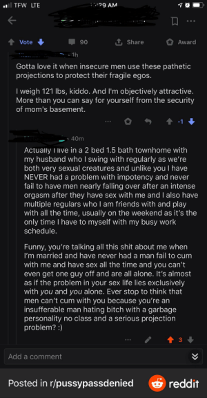 """Stole this screenshot from another sub- I'll be damned if most of this guy's response doesn't scream """"I have sex"""": Stole this screenshot from another sub- I'll be damned if most of this guy's response doesn't scream """"I have sex"""""""