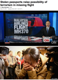 vogue-le-mode:  (CNN) — Uncertainly over the fate of missing Malaysia Airlines Flight 370 was further compounded Saturday by reports that two men whose names matched those on the passenger manifest had reported their passports stolen. After the airline released a manifest of the 239 people on the plane, Austria denied that one of its citizens was on the flight as the list had stated. The Austrian citizen was safe and sound, and his passport had been stolen two years ago, Austrian Foreign Ministry spokesman Martin Weiss said. Similarly, Italy's foreign ministry confirmed that no Italians were on the flight, even though an Italian was listed on the manifest. Malaysian officials said they were aware of reports that the Italian's passport was also stolen but had not confirmed it. On Saturday, Italian police visited the home of the parents of Luigi Maraldi, the man whose name appeared on the manifest. The police official said that Maraldi had reported his passport stolen in Malaysia last August and had obtained a new one. Update: Two people who boarded Flight 370 using stolen passports appear to have bought their tickets together, records show. : Stolen passports raise possibility of  By Ray Sanchez, CNN  March 9, 2014-Updated 0542 GMT (1342 HKT)   MALAYSIA  AIRLINES  FLIGHT  MH370  MIuFIMER  LIVE  CNN  BREAKING Maaysia Airline Boeing 777-200 jet lost off southern vietnam   GETTY IMAGES vogue-le-mode:  (CNN) — Uncertainly over the fate of missing Malaysia Airlines Flight 370 was further compounded Saturday by reports that two men whose names matched those on the passenger manifest had reported their passports stolen. After the airline released a manifest of the 239 people on the plane, Austria denied that one of its citizens was on the flight as the list had stated. The Austrian citizen was safe and sound, and his passport had been stolen two years ago, Austrian Foreign Ministry spokesman Martin Weiss said. Similarly, Italy's foreign ministry confirmed that no Italians were on the flight, even though an Italian was listed on the manifest. Malaysian officials said they were aware of reports that the Italian's passport was also stolen but had not confirmed it. On Saturday, Italian police visited the home of the parents of Luigi Maraldi, the man whose name appeared on the manifest. The police official said that Maraldi had reported his passport stolen in Malaysia last August and had obtained a new one. Update: Two people who boarded Flight 370 using stolen passports appear to have bought their tickets together, records show.