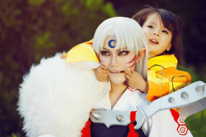 Facebook, Life, and Target: stoneofagony:  Sesshoumaru and RinAKA The most adorable cosplay photo I've ever seen in my life.(source)
