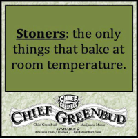 Cher, Memes, and Music: Stoners: the only  things that bake at  room temperature.  CHER  GREENRUD  Chief Greenbud  Marijuana Music  AVAILABLE a  Amazon.com iTunes ChiefGreenbud.com Speaking of baking....  Wake and Bake !!