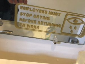 Crying, Dank, and Memes: STOP CRYING  BEFORE RETURNING  TO WORK big sad by fannypackmcb MORE MEMES