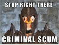 25+ Best Stop Right There Criminal Scum Memes | Criminations
