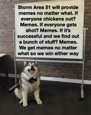 Oh boy I can't wait! via /r/memes https://ift.tt/2jE8osT: Storm Area 51 will provide  memes no matter what. If  everyone chickens out?  Memes. If everyone gets  shot? Memes. If it's  successful and we find out  a bunch of stuff? Memes.  We get memes no matter  what so we win either way Oh boy I can't wait! via /r/memes https://ift.tt/2jE8osT