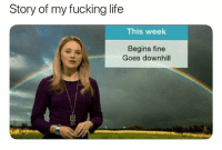 Fucking, Life, and Memes: Story of my fucking life  This week  Begins fine  Goes downhill @lolmynegga posts the funniest memes😂💀