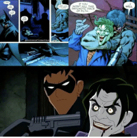 Batman, Joker, and Life: STORY OFTHE BATMAN  WON'T KILL THIS  PSYCHOTIC PIECE  WILL. Evening Gothamites! Our latest letter of our Joker alphabet discussed Judd Winick's arc 'Under the Hood', which brought back Jason Todd as the new Red Hood. Todd's tragic history wasn't told outside of comics until Brandon Vietti's 2010 animated feature 'Batman: Under the Red Hood' (bottom clip presented), written by Winick and inspired by his 2005-2006 storyline (top panels by Eric Battle from Batman (Vol 1) 650, 2006 presented). Batman (voiced by Bruce Greenwood) meets Jason as a young orphan stealing the tires off of his Batmobile. He takes him in and makes him the next Robin after Dick Grayson, yet Batman sees the bloodthirsty and violent streak in Todd. Ra's al Ghul sends Joker (voiced by John DiMaggio) to aid him in his current scheme, which leads the Boy Wonder to a trap where Joker beats him with a crowbar and locks him in a set to explode warehouse, where the Dark Knight is too late to save him and Todd dies. Unknowingly to Batman, Ra's feeling some guilt puts Jason in the Lazarus Pit to bring him back to life. However, the effects of the pit make him insane and he escapes. The film jumps 5 years later where Jason Todd has returned to Gotham City as the Red Hood (voiced by Jensen Ackles) and takes on the leader of the criminal underground, Black Mask. During this violent crusade, Batman and Nightwing discover that this new Red Hood is none other than Jason Todd back from the dead. After tricking Black Mask and his men to break out the Joker from Arkham Asylum to help, he captures him to seek his needed revenge on the Harlequin of Hate. In the end Batman is lured to an abandoned building with Jason Todd and Joker, Todd confessing his forgiveness to Bruce but his confusion and anger towards not killing Joker after what he did to him. After Batman disarms Todd who is about to kill Joker, Red Hood sets off a set of bombs which leads to a huge explosion and unresolved relationsh