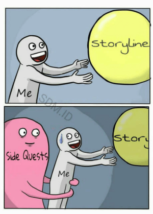 Skyrim, Quest, and Side: storyline  Me  Side Quest  Me Skyrim things