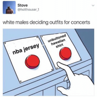 Romper is the way to go: Stove  @holthouser 1  white males deciding outfits for concerts  ll hawaiian  nba jersey Romper is the way to go