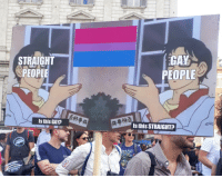 Saw, Target, and Tumblr: STRAIGHT  @PEOPLE  GAY  PEOPLE  Is this GAY?  Is this STRAIGHT?  AD colorfulcipher:  One of the best signs I saw at Pride yesterday
