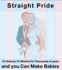 It's Okay to be Straight: Straight Pride  it's Natural, it's Worked for Thousands of years  and you Can Make Babies It's Okay to be Straight