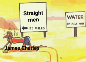 Water, James, and Will: Straight  WATER  men  /4 MILE  25 MILES  James dharles tHiS Will diE iN nEW