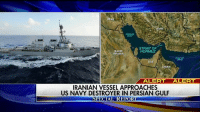 "JUST IN: The USS Mahan, a guided-missile destroyer, had a close encounter with an Iranian Revolutionary Guard ""fast attack craft"" in the Persian Gulf Monday and had to alter course, sound the danger signal, fire flares and man its weapons, two U.S. officials tell Fox News. For more on this story, go to FoxNews.com.: STRAIT OF  SAUDI  HORMUZ  ARABIA  MAN  ALERT  ALERT  IRANIAN VESSEL APPROACHES  US NAVY DESTROYER IN PERSIAN GULF  ECIAL REPORT  SP JUST IN: The USS Mahan, a guided-missile destroyer, had a close encounter with an Iranian Revolutionary Guard ""fast attack craft"" in the Persian Gulf Monday and had to alter course, sound the danger signal, fire flares and man its weapons, two U.S. officials tell Fox News. For more on this story, go to FoxNews.com."