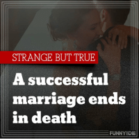 Dank, Funny, and Marriage: STRANGE BUT TRUE  A successful  marriage ends  in death  FUNNY DIE
