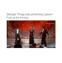 They made my 2016 better follow @biochemicals for more! 😂💗: Stranger Things kids performing Uptown  Funk at the Emmys  Omasturwate They made my 2016 better follow @biochemicals for more! 😂💗