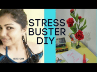 Flower, Table, and Stress: STRESS  BUSTER  DIY  OTTER  HERE ISAM Stress Buster DIY - Pen Holder and Flower Arrangement / Table Decor / Of