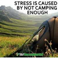 camping: STRESS IS CAUSED  BY NOT CAMPING  ENOUGH