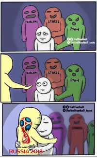 Nothing like the #WorldCup https://t.co/FudMEswLcY: STRESS  PAIN  O TrollFootball  The TrollFootball_Insta  PROBLEMS  STRESS  PAIN  OTrollFootball  The TrollFootball_Insta  A WOR  RUSSI4 2018 Nothing like the #WorldCup https://t.co/FudMEswLcY