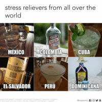 Instagram, Memes, and Colombia: stress relievers from all over the  world  Lente  MEXICO  COLOMBIA  CUBA  EL SALVADOR  PERU  DOMINICANA  photocredit allieskin/Instagram gastrobrand Instagram medancetl/Instagram  @wearemitu  chaparroeramonsv com nadir maydaly /Instagrarm luish romero /Instagram What's your poison? 🍻