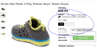 Go Home Kohls.com you're drunk!: Stride Rite Made 2 Play Phibian Boys' Water Shoes  ORIGINAL  6.00  *1r 3.3  eviews Write a rev  1o Questions & 6 Answers Ask a  uestion  Size: 1 MED  1 MED  4 T  5 T  Quantity  SHIP  FREE STORE PIC  Available  TO REGISTRY  ADD TO LIST  ADD TO BAG  FIND IN STORE  PRODUCT DETAILS Go Home Kohls.com you're drunk!