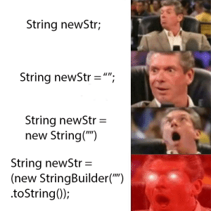 "How To Create an Empty String: String newStr;  String newStr ="";  String newStr  new String("")  String newStr =  (new StringBuilder("")  .toString(); How To Create an Empty String"