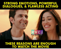 Kaabil Movie rvcjinsta: STRONG EMOTIONS, POWERFUL  DIALOGUES, & FLAWLESS ACTING  C J  WWW. RVCJ.COM  THESE REASONS ARE ENOUGH  TO WATCH THE MOVIE Kaabil Movie rvcjinsta