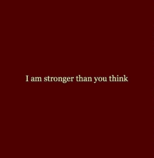 Think, You, and Stronger Than You: stronger than you think