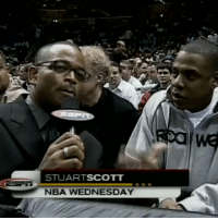Jay, Jay Z, and Memes: STUARTSCOTT  NBA WEDNESDAY RT @ESPNNBA: Stuart Scott asked Jay-Z to pick between LeBron and Melo during their first matchup 15 years ago. https://t.co/nu36Mb7eSl